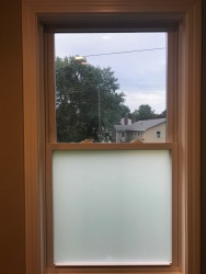 After- Frosted Window Film
